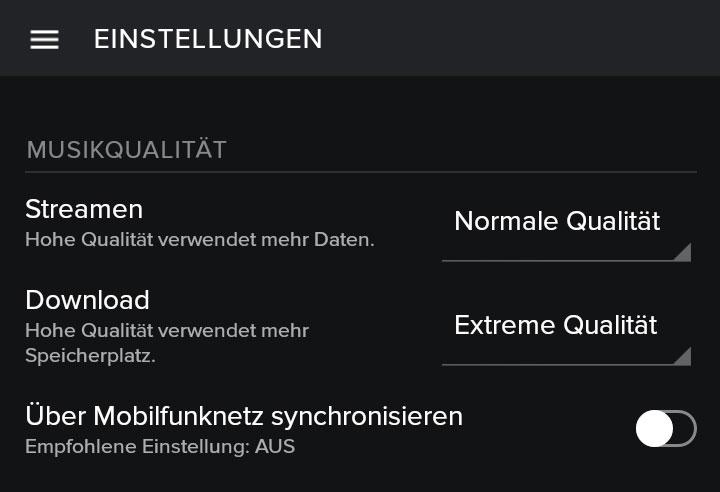 Spotify-Tipps-Einstellungen