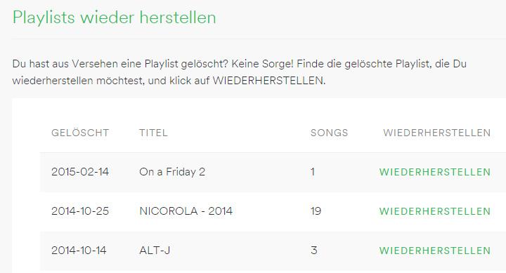Spotify-Tipps-wiederherstellenl