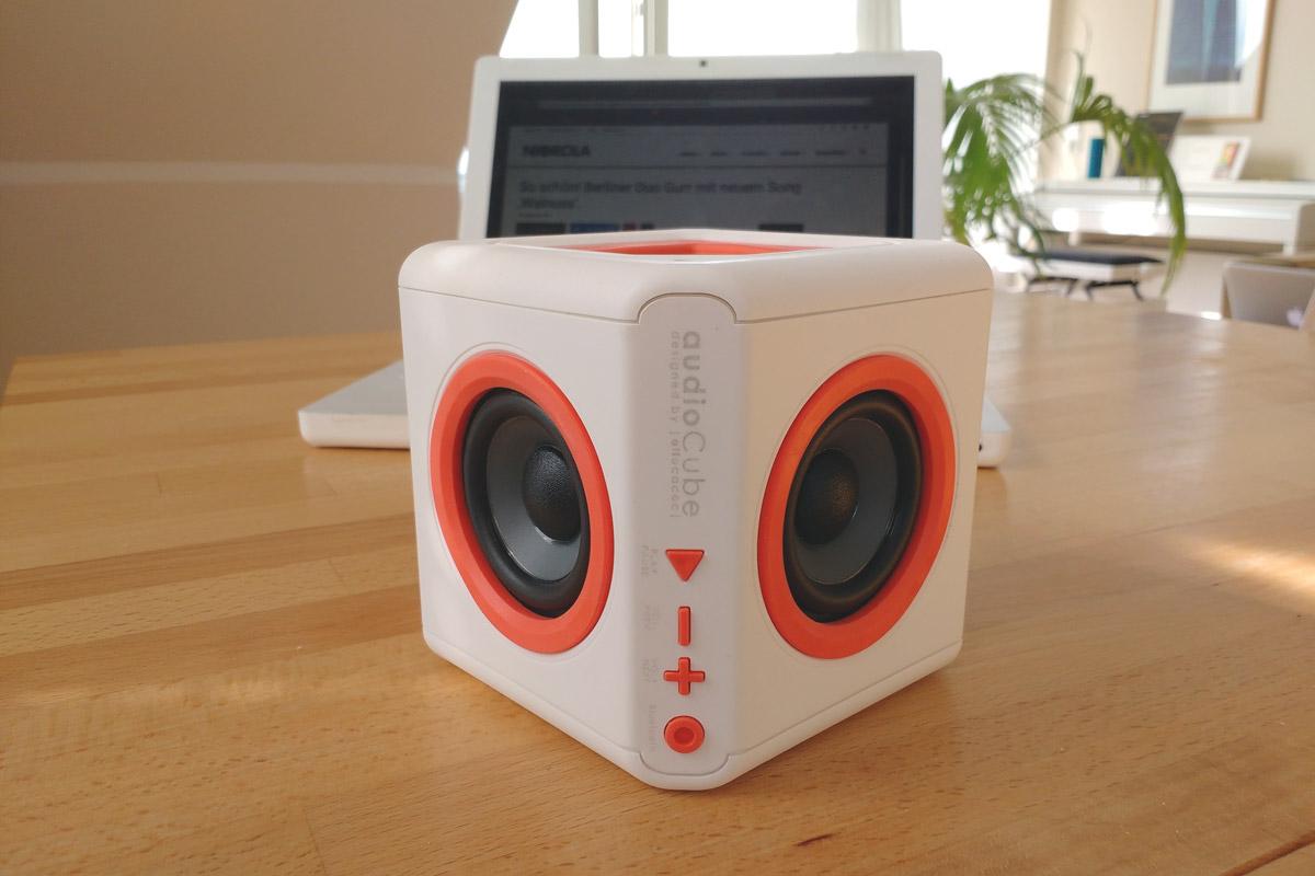 der audiocube portabler 360 grad bluetooth lautsprecher im test nicorola. Black Bedroom Furniture Sets. Home Design Ideas
